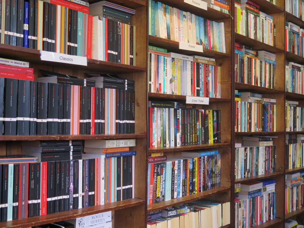 Sam Read Bookseller shelves