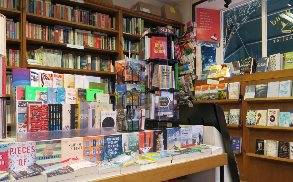 Sam Read Bookseller display