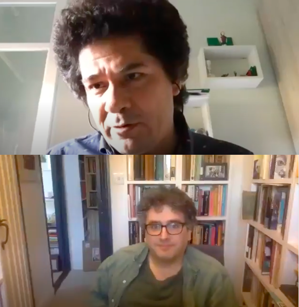 Juan Pablo Villalobos and Daniel Hahn in conversation for McNally Jackson
